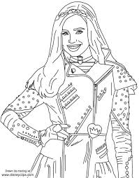 Descendants 2 Coloring Pages Free Scootershd Wallpapersga