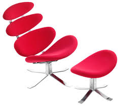 Modern Red Chair Decor Red Modern Upholstered Wing Back Chairs Contemporary Red Chair