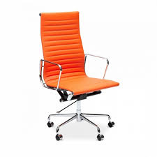 iconic designs orange ribbed office chair