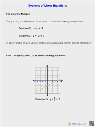 worksheet 14c solving linear systems of equations addition solving systems of equations by elimination worksheet answers with