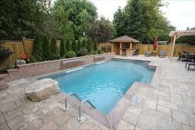 Custom Backyard Pool Designs Custom Rectangle Inground Pool With Spill Over Spa