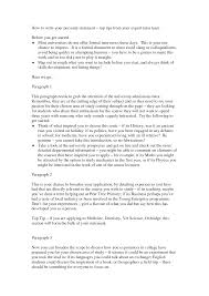 professional personal statement how to write your personal statement