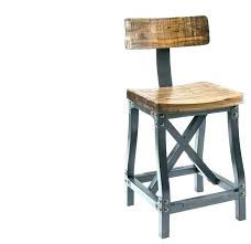 bar stool chairs with backs oak stools back wooden counter tire height wood chic industrial rustic
