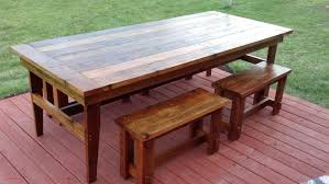 top result diy farmhouse table and bench plans new wood patio dining table plans dining room