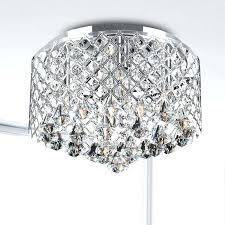 flush mount chandelier crystal chrome crystal flush mount chandelier nerisa 4 light chrome semi flush mount