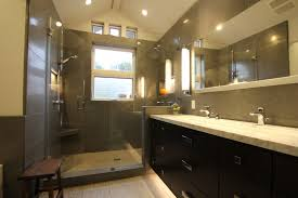 recessed lighting over shower. opulent bathroom with recessed lights and ceiling windows also travertine tiles lighting over shower