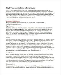 swot analysis samples new employee swot analysis
