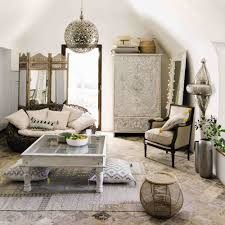 Mango Living Room Furniture Solid Mango Wood Wardrobe In White And Silver W 110cm Namaste