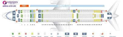 Hawaiian Airlines Flight 25 Seating Chart Hawaiian Airlines Fleet Airbus A330 200 Details And Pictures