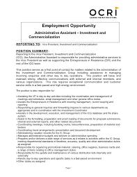 17 Administrative Assistant Job Description Richard Wood Sop