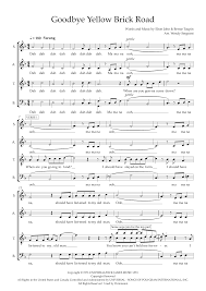 Goodbye Yellow Brick Road (arr. Wendy Sergeant) Sheet Music   Elton John    SATB Choir
