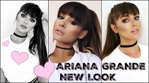 ariana grande makeup tutorial 2016 new bangs full glam look you