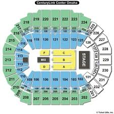 Centurytel Seating Chart 19 Unbiased Qwest Center Omaha Detailed Seating Chart