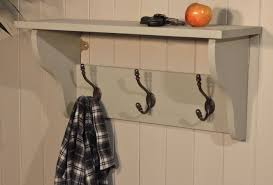 Wall Coat Rack With Baskets shelf White Wooden Coat Racks With Shelf And Three Black Metal 81