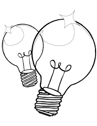Small Picture Coloring Pages Christmas Light Bulb Template Christmas Lights