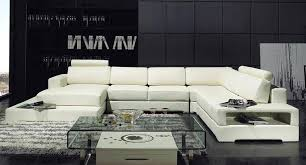 u shaped leather couch u shaped off white leather sectional sofa set