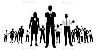シルエット人物のビジネスイメージ