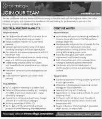 digital marketing manager and content writer jobs available at get jobs in email
