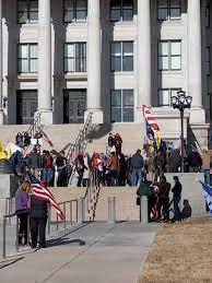 Protestors gather at Utah State Capitol ...