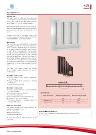 Sand Trap Louver Design Model Kstl By Khalid Manufacturing Company Issuu