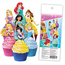 Disney Princess Edible Wafer Cupcake Toppers