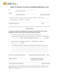 Doctors Note Release To Work Best Photos Of Return To Work Release Form Doctor Medical