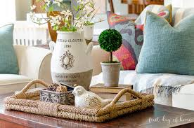 West elm has a stylish selection of large ottoman trays in several different looks and materials, making it easy for you to find the tray that gives you the. How To Create An Elegant Look With Coffee Table Decor