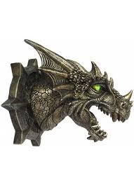 trophy dragon head led wall plaque at gothic plus gothic clothing jewelry goth