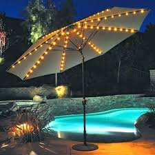 offset patio umbrella with lights outdoor garden wonderful green square shaped