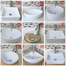 bathroom sink in ceramic glass basin mixer tap pop up plug option