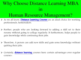 Career Opportunities After Distance Learning Mba In Hrm