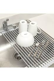 Sorbus - Warm Grey Roll-Up Dish Drying Rack is now 40% off.