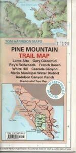 Marin County Tide Chart Details About Tom Harrison Trail Map Pine Mountain California Marin County Loma Alta