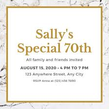 birthday invitations samples customize 996 70th birthday invitation templates online canva