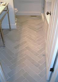 Patterns tile floors Diagonal Soothing Gray Tile Set In Herringbone Pattern Give This Small Bath Distinction Flooring Inc Whats On Your Radar Tile Design Diy Bathroom Bathroom