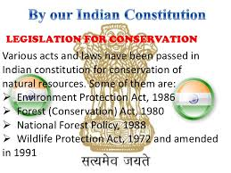 conservation of natural resources and environment 17