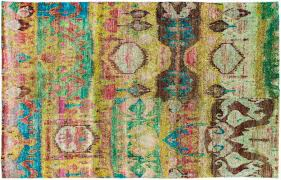 design dilemma turning old rugs into art home find shahbanu rugs sari silk ikat design hand knotted bright colors oriental