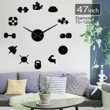 gym clock diy wall clock large wall