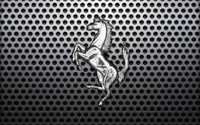 black ferrari logo wallpaper. ferrari logo horse 4 wallpaper black