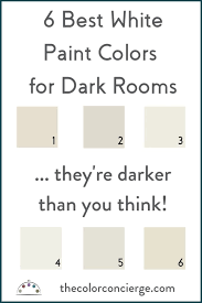 best white paint colors for dark rooms