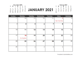 Powerpoint and excel calendars are designed for personal, school, and business settings and are ready to be filled with your special dates and upcoming events: Printable 2021 Word Calendar Templates Calendarlabs