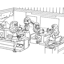 Small Picture Lego Friends Coloring Page chuckbuttcom