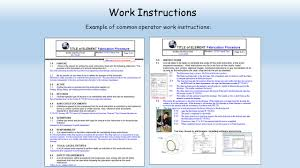 Work Instructions Examples Work Instructions Kadil Carpentersdaughter Co