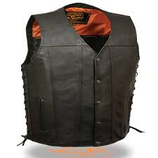 add to my lists milwaukee mens vintage style conceal carry leather motorcycle vest
