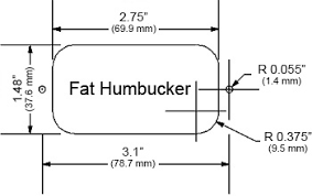 warmoth custom guitar parts strat pickguard Humbucker Mounting Diagram below are the humbucker rout dimensions we offer please be sure of the one that is correct for your brand or style of pickup Seymour Duncan Humbucker Wiring Diagrams