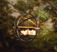 outdoor candle lighting. Garden Oasis Candle Sphere Chandelier - Outdoor Living Lighting Decorative G