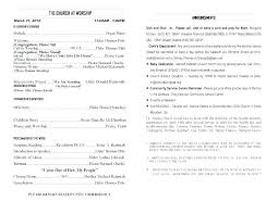 Templates For Church Programs Bulletin Template Ward Printable For Church Program Download