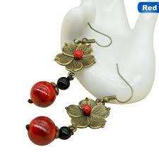 Fancyqube <b>Vintage Ethnic Flowers Jewelry</b> Dangle <b>Earrings</b> ...