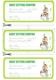 Babysitting Coupon Book Template 7 Naveshop Co