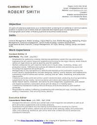Free Resume Sample Content Editor Resume Samples Qwikresume